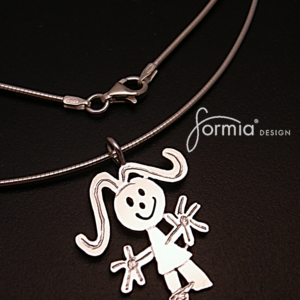 Omega chain, Omega necklace chains in terling silver round 1mm thick, creates a nice neckwire look when worn with pendants, fits all sizes of our custom artwork pendants.