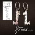 giraffe dangle earrings