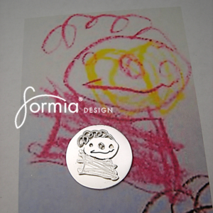 Golf marker with crayon figure. Portrait of the dad, uncle or grandpa that enjoys golfing. Golfers has the best fans!