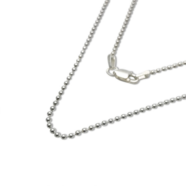 bead chain sterling silver