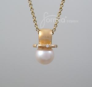 pearl saturnus pendant