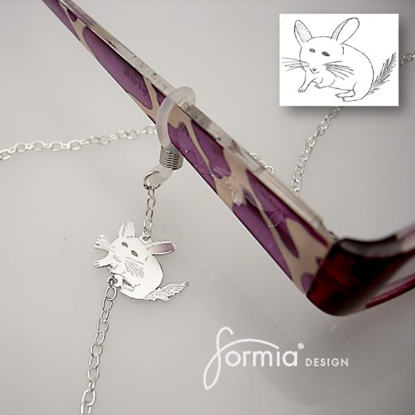 chinchilla eyeglass chain charm