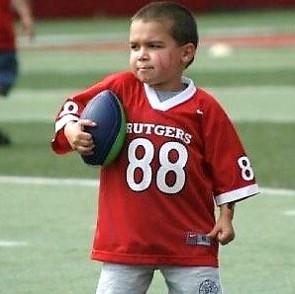 photo titanium key chain little boy playing football