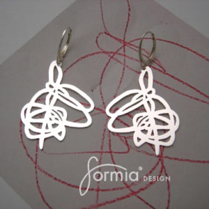 custom sterling silver earrings from your kids scribble