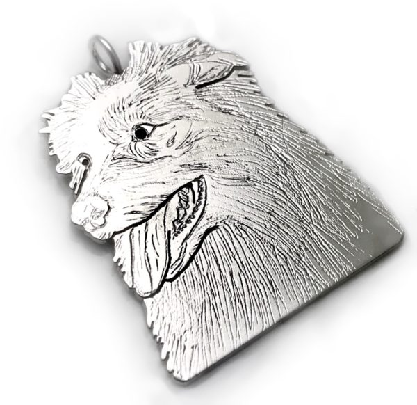 pet photo pendant handmade silver pendant after photo of your own pet