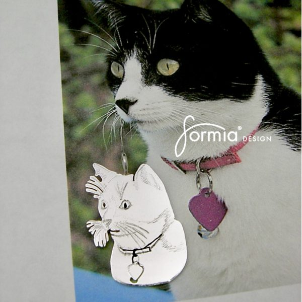 pet photo pendant kitty cat picture