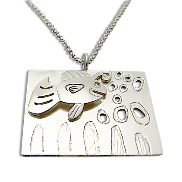 Double layer pendant from artwork by your children