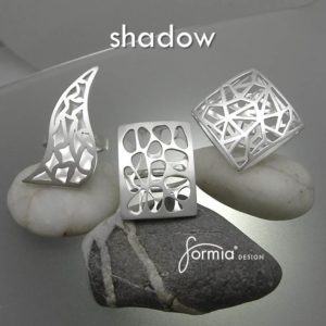 Shadow collection of fine jewelry rings and pendants designed by Mia in the fall of 2016