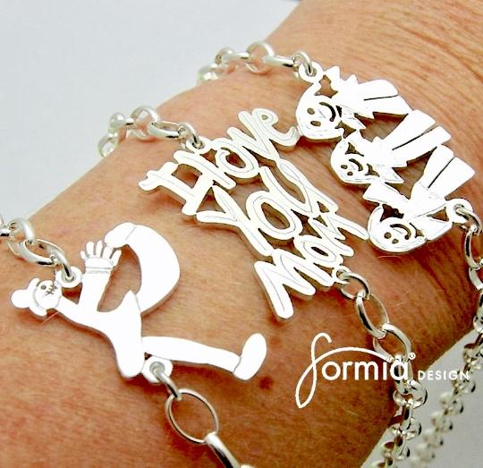 3 sports bracelets on arm