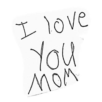 I love you mom sports bracelet writing