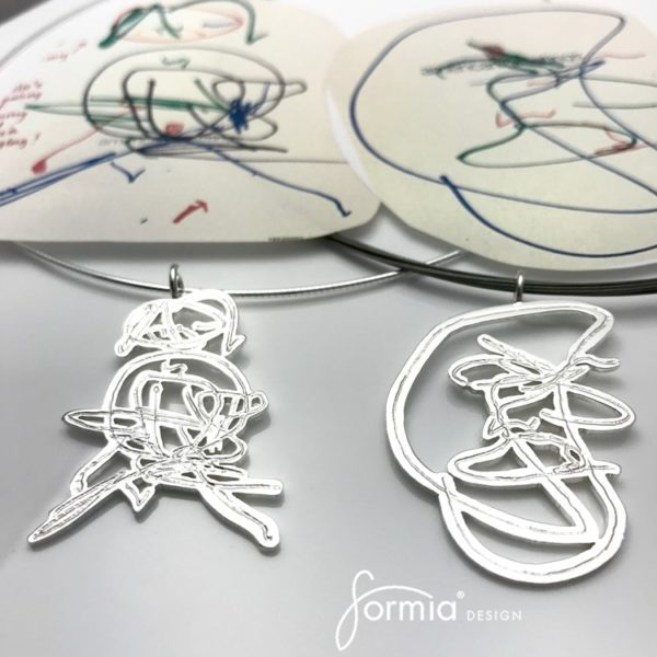 artwork pendants scribble art by toddlers for necklace