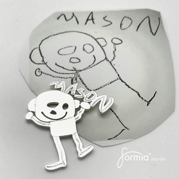 mason name portrait for design artwork pendant