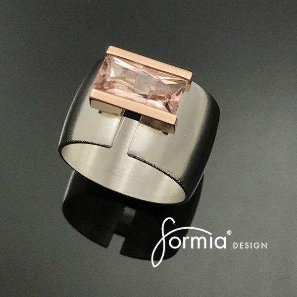 Morganite-rectangular-cut-14k-rose-gold-setting-silver-ring