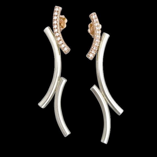 Kurvene diamond earrings