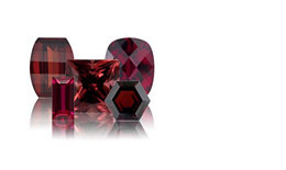 Garnet january stone of the month, dark red in color for the month of January