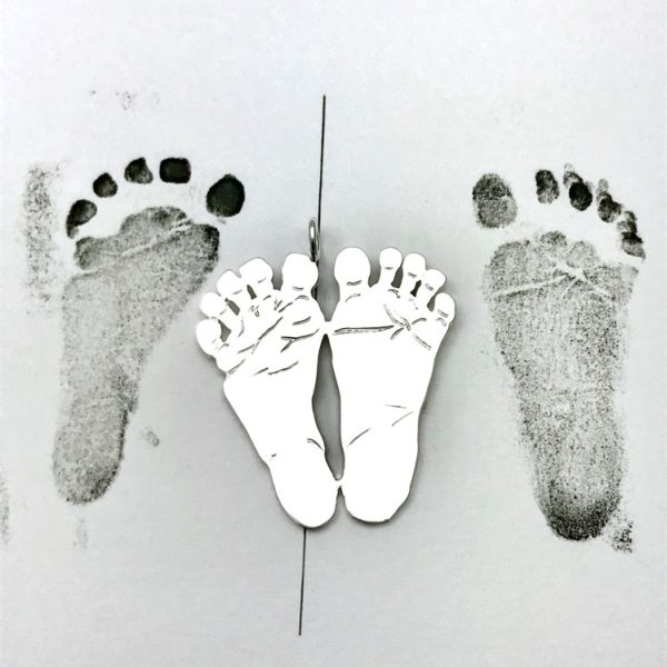 New born Baby feet for pendant necklace