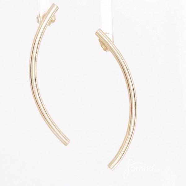 Kurvene simplicity earrings in rose gold