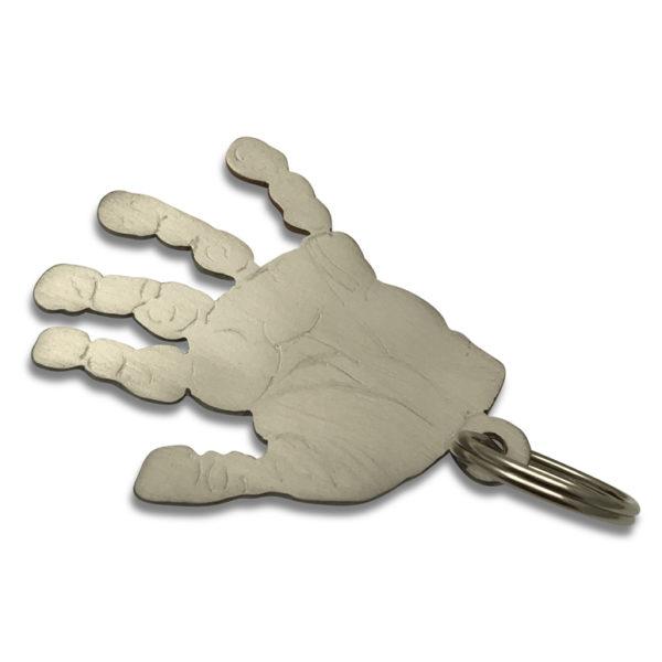 hand print titanium key chain