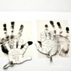 two handprints in titanium for key chain gift