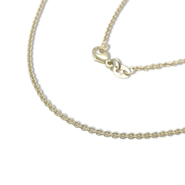 14k gold cable chain thin
