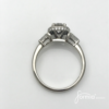 diamond halo engagement ring from the side