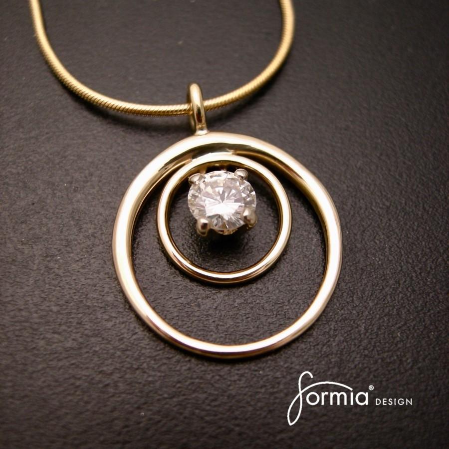 Grandmas wedding ring pendant ring set made into a pendant