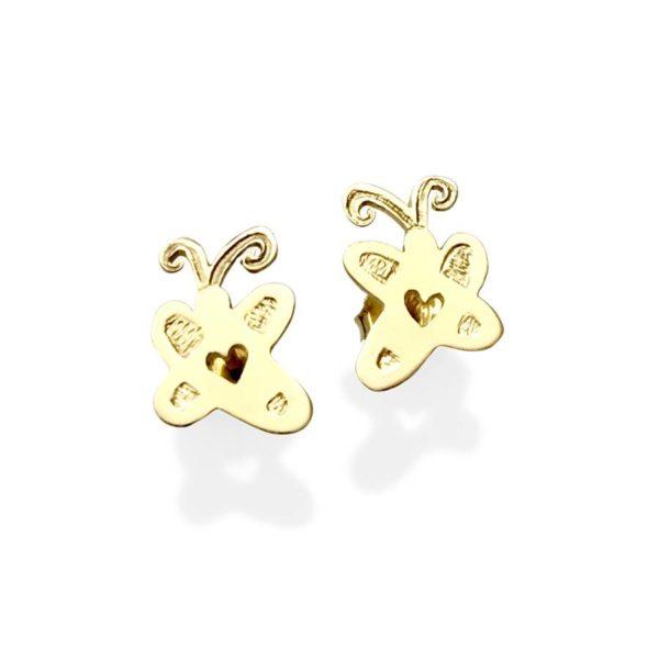Artwork gold studs earrings small custom studs