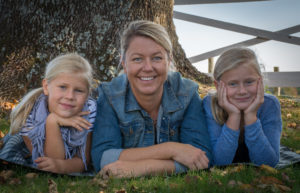 MIa van Beek with her daughters Josefine and Nellie, My girls are an inspiration every day and capture their every stage of growing up I do translate into my every day at work.