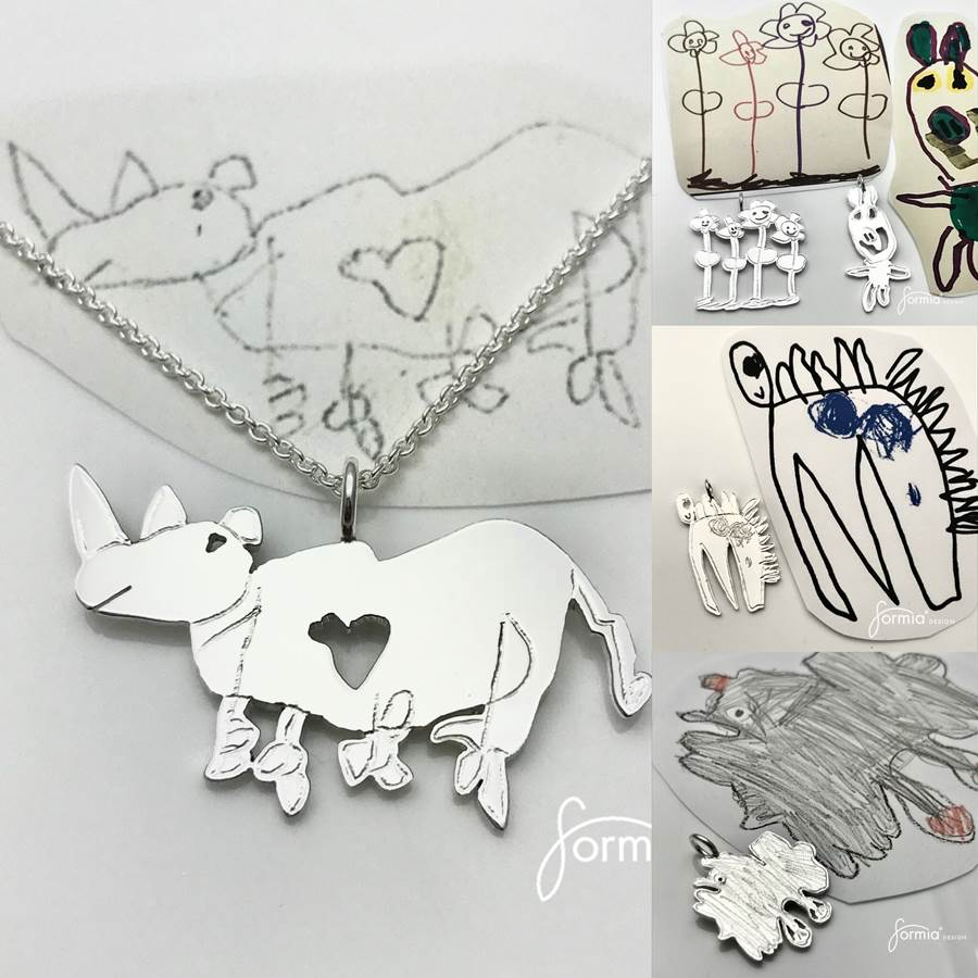 We parents have them all, creative drawings of all kinds artwork pendant collage