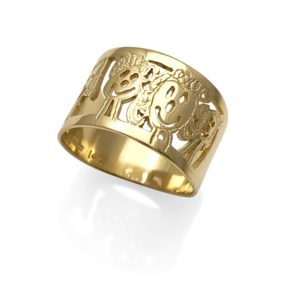 gold family ring after your drawing