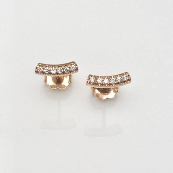 Diamond stud earrings in 14k rose gold