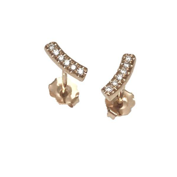Kurvene diamond stud earrings 14k rose gold