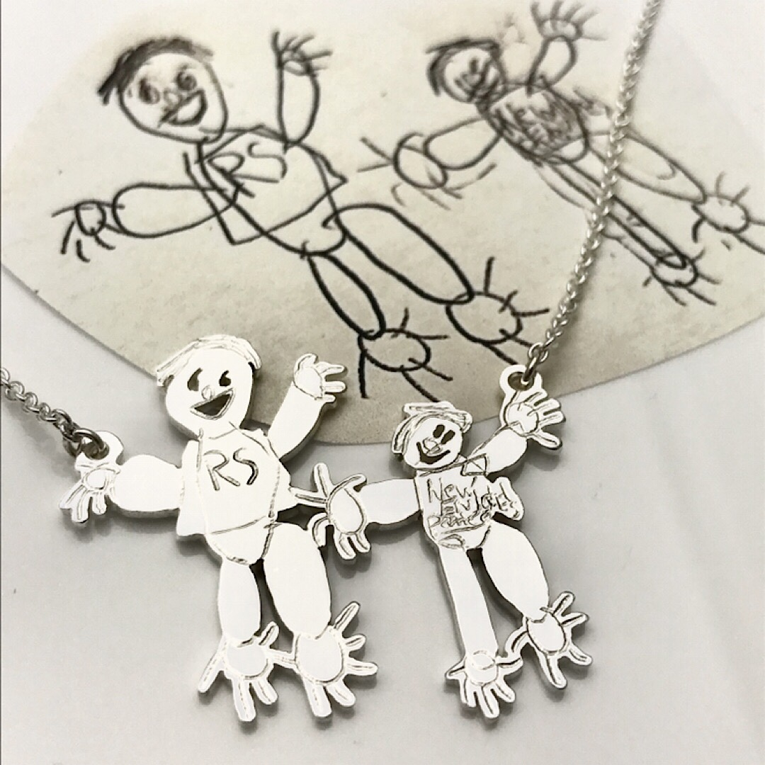 Count your fingers Attached pendant necklace
