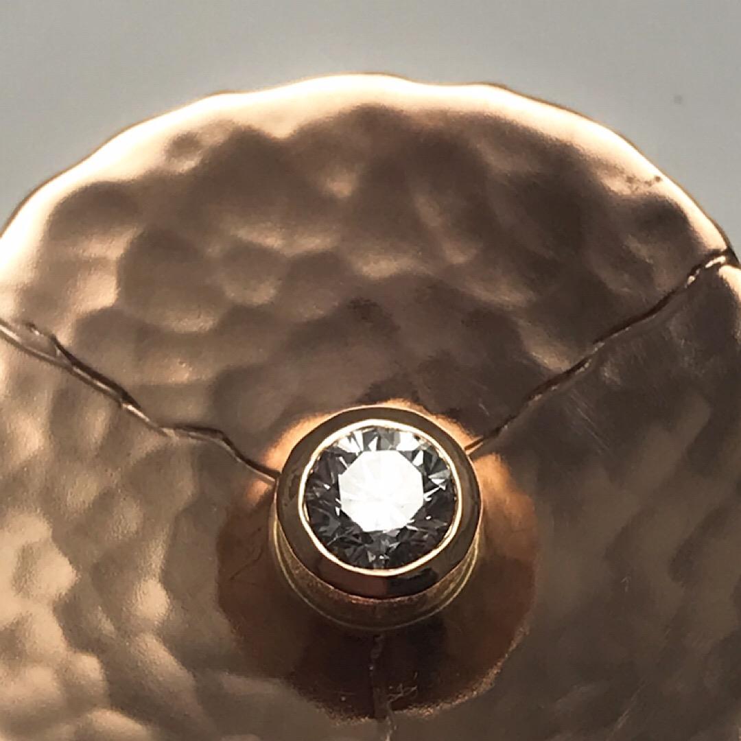simply rose gold with diamond custom made