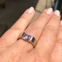 pinkalicious ring for spring feelings, beutiful light pink Morganite gemstone set in modern silver ring